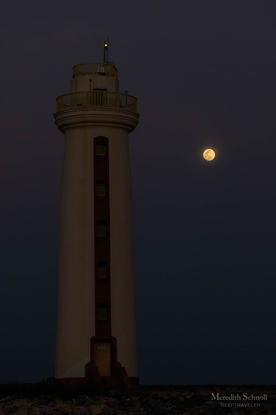 Moonrise over the Lighthouse
