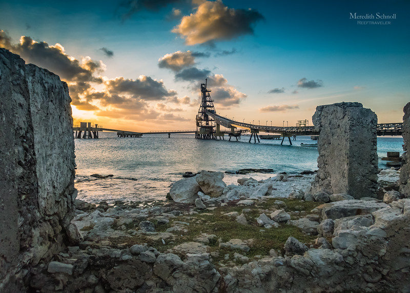 A Salt Pier Sunset as Seen Through the Ruins