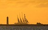 The Star Clipper Sailing on Bonaire's East Coast