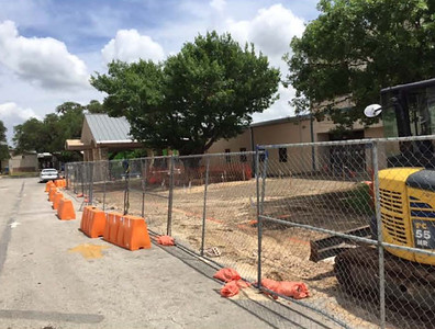 NBHS Renovations on April 17, 2017 - Entry demo