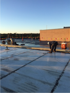 Roofing work in December 2016