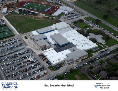 Aerial view of NBHS March 2017