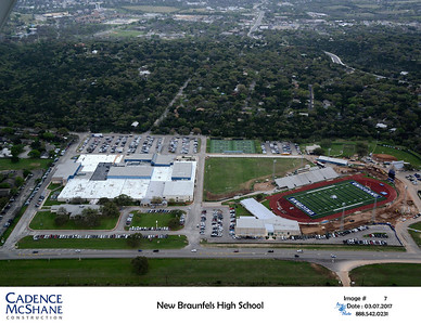 Aerial view of NBHS & the stadium March 2017