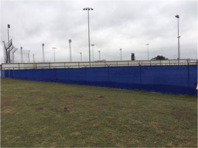 Erosion-control fencing installed at site in November 2016