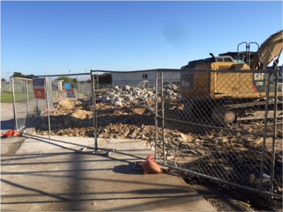 Demolition ongoing for new concession in December 2016
