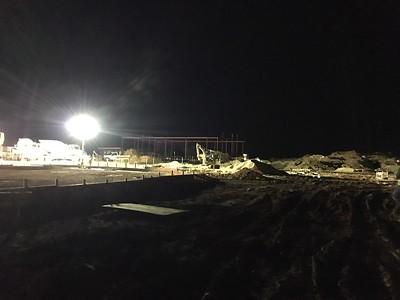 Concrete pour in September 2016 for Veramendi Elementary.