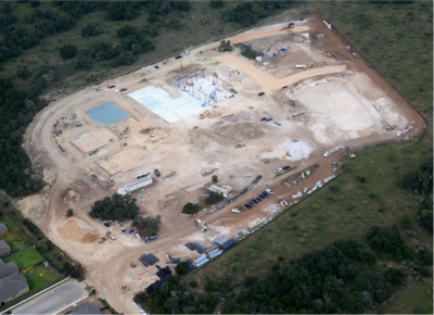 Aerial of construction of Veramendi Elementary in October 2016.