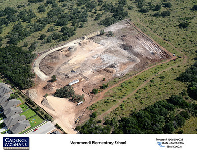 Aerial of Veramendi Elementary in June 2016.