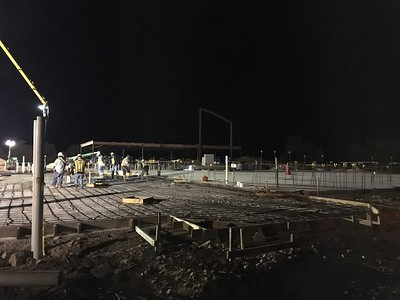 Concrete pour in September 2016 for Veramendi Elementary.