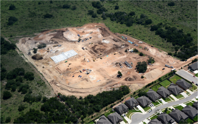 Aerial of construction of Veramendi Elementary in September 2016.