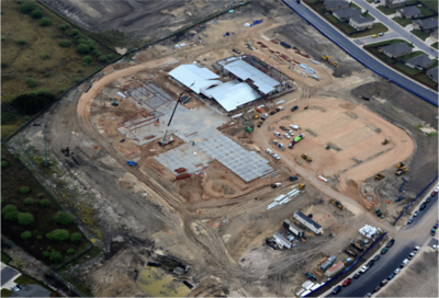 Aerial view of Voss Farms Elementary in December 2016