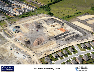 Aerial of Voss Farms Elementary during construction in June 2016.