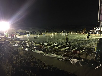 Concrete pour at Voss Farms Elementary in September 2016.