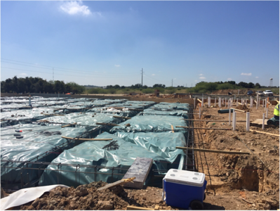 Classroom slab preparation at Voss Farms in October 2016.