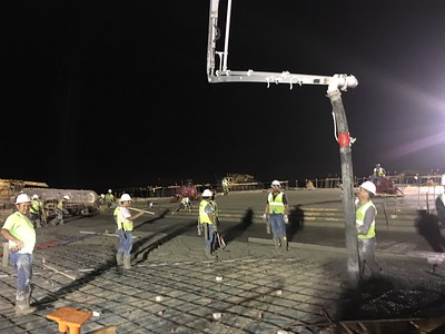 Concrete pour at Voss Farms Elementary in August 2016.
