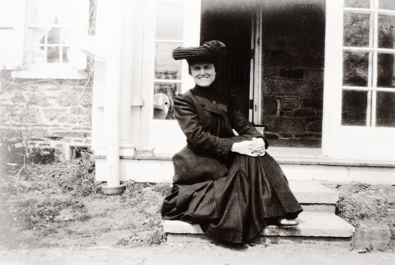 Maggie Bond at Spring House Farm, April 1905