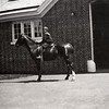 Jim Bond on a Horse at Willowbrook Stables, May 1908
