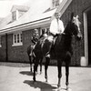 Francis and JIm Bond on Horses at WIllowbrook Stables, 1908