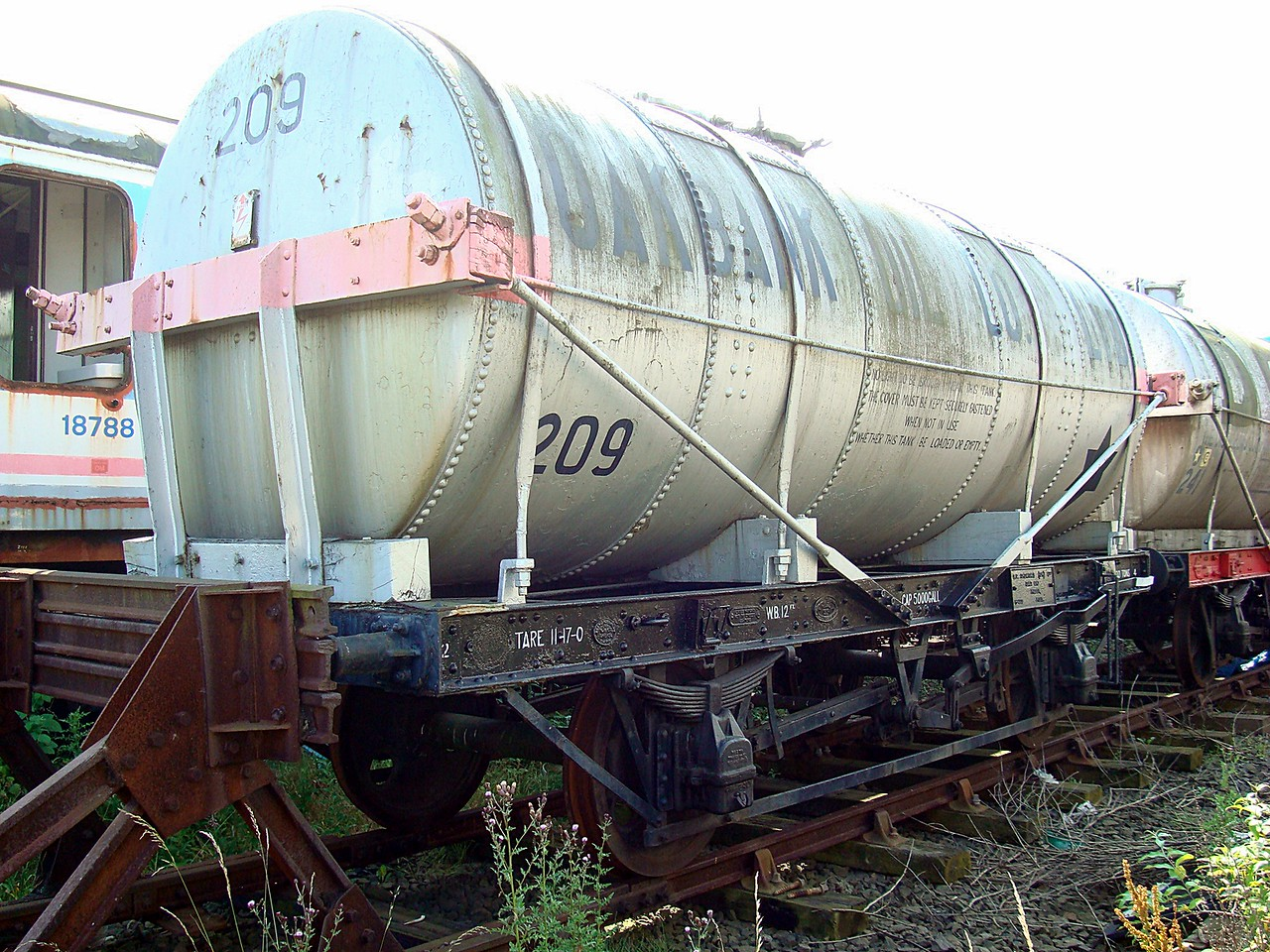 PO 209 Chemical Tank 27,07,2008. (Body Scrapped u,f At Maud Aberdeenshire)