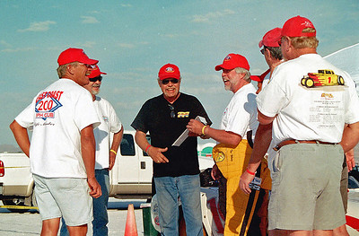 Receiving the official documents of a 252.623 MPH record setting run.  Photo by Wayne Brown