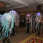 Jellyfish costumes were easily spotted during the cocktail reception.