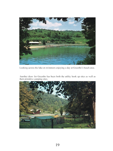 A couple of 1970s postcards from Greenbo Lake.