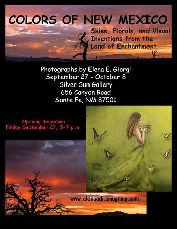 Flyer for my first solo show in Santa Fe (not a book cover)