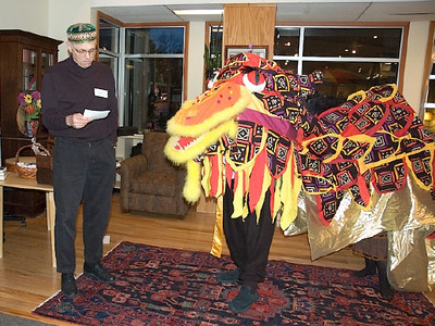 Riddle Master challenges Dragon with wit.   ... (c) photo by Heidi Pettit