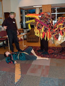 Riddle Master declares Dragon victorious.   ... (c) photo by Heidi Pettit