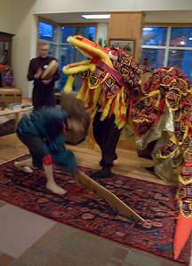 Kye Godrick challenges Dragon with sword.   ... (c) photo by Heidi Pettit