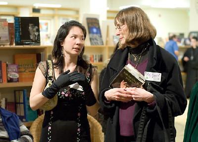 Authors Justina Chen & Meg Lippert   ... (c) photo by Heidi Pettit