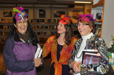 Characters from DRAGONS OF NOOR celebrate book launch!  Author Carey, fellow writers, readers & fans come dressed in costume.  Photo credit - Heidi Pettit