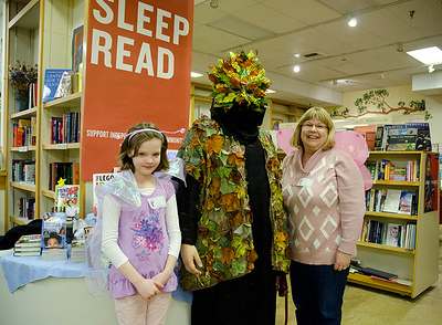 Fairies & Treegrim await the arrival of Author Carey...  Dragonswood Booklaunch, Author Janet Lee Carey, photo credit - Heidi Pettit