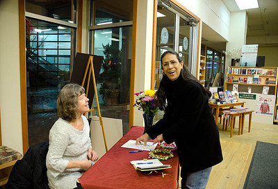 Town-greeter hospitable to common Villager....  Dragonswood Booklaunch, Author Janet Lee Carey, photo credit - Heidi Pettit