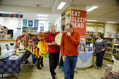 Dragon Dance begins!  Dragonswood Booklaunch, Author Janet Lee Carey, photo credit - Heidi Pettit