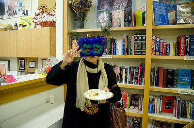 Mystery Fairy shows peaceful intent...  Dragonswood Booklaunch, Author Janet Lee Carey, photo credit - Heidi Pettit