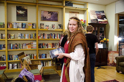 Fey Maiden with Dragonswood...  Dragonswood Booklaunch, Author Janet Lee Carey, photo credit - Heidi Pettit