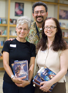 Obvious fans of Janet Lee Carey's books :) ...  (c) photo by Heidi Pettit