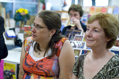 Writers Molly Blaisdell and Marion Holland in the audience ...  (c) photo by Heidi Pettit