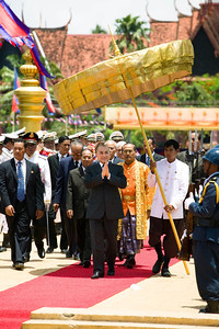 His Magesty King Norodom Sihamoni of Cambodia during the Royal Ploughing Festival in Phnom Penh (2008).