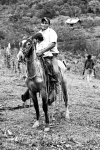 Many people still travel by horse in rural Nicaragua.