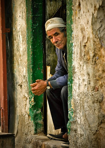 Portrait of a Libyan man in Tripoli, Libya.