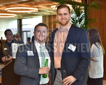 Sean O'Neill from BrainWorks Studio, left, and Jake Behuniak from Marshall & Sterling.