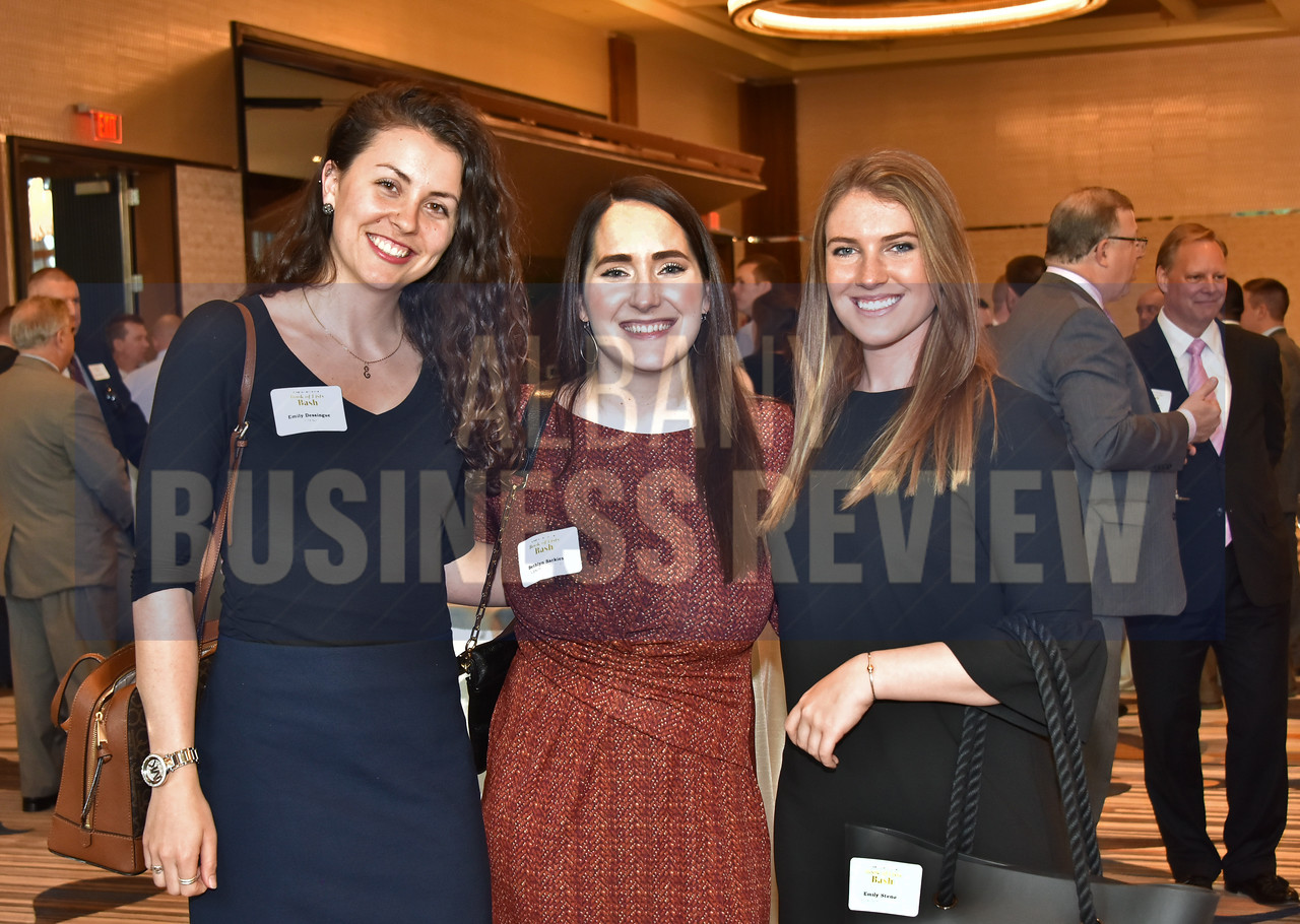 Emily Dessingue from Cresa, left,with Bethlyn Sarkies and Emily Steno from Upside Collective.