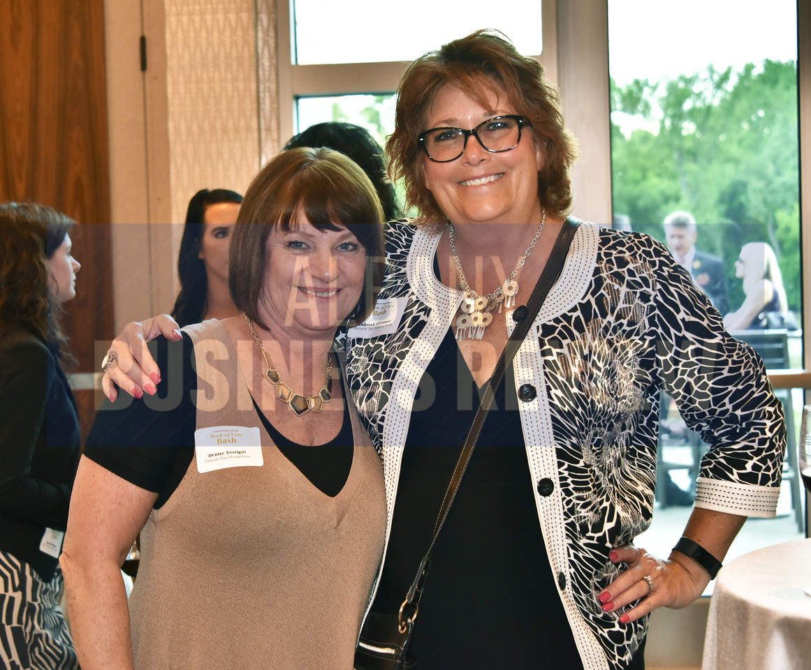 Denise Verrigni from Pennacchia Properties, left, with Deborah O'Connor from Ballston Spa National Bank.