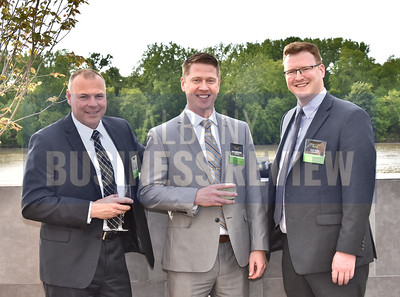 Matt Dahl, left, Dan Cancelliere and Sean Wade from sponsor Pioneer Bank.