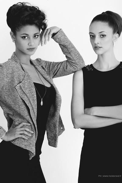 Duo de modèles photos en studio  - Book modèle en studio photo Montpellier