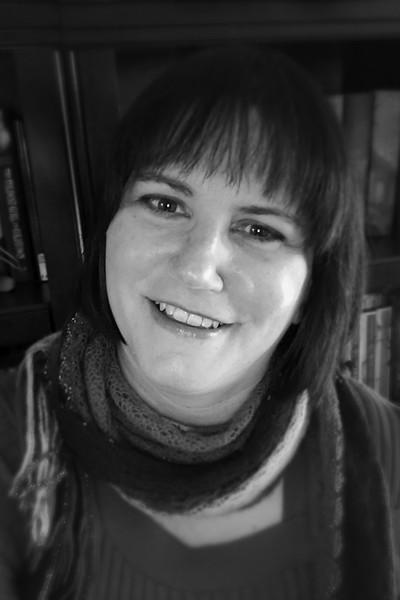 High-res author photo, black & white