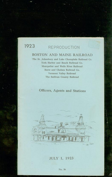 B&M Officers Agents & Stations 1923 repro<br /> 264272303_q7Gyy