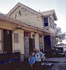Depot Cleanup Party. Heather Coombs and Phyllis Olsen, 10/31/1981. ACC2005-01-0006